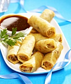 Small spring rolls with Hoisin sauce