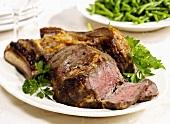 Rippen-Steak mit Knochen