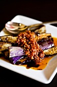 Aubergine with chilli paste & sweet soy sauce (Singapore)
