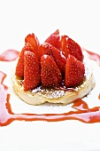 Pancake mit Erdbeeren