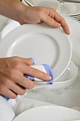 Drying a plate