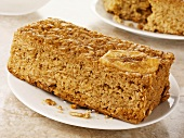 Honey and banana flapjack (Rolled oat tray bake, UK)
