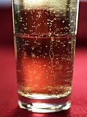 A glass of fizzy drink