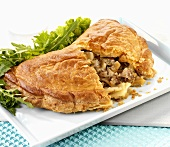 Cornish pasty (Meat and vegetable pasty, England)