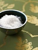 A small dish of coarse sea salt