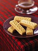 Shortbread with a cup of tea