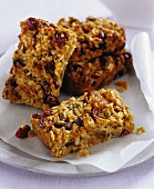 Cranberry and apricot flapjacks