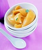 Melon compote in a bowl