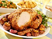 Roast turkey with accompaniments