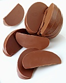 Chocolate orange, partly divided into segments
