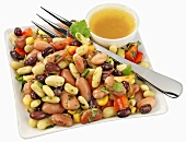 Three bean salad with vinaigrette