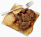 Lancashire Hotpot (Fleischeintopf mit Kartoffeln, England)