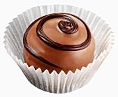 Chocolate in paper case (close-up)