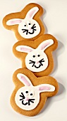 Three Easter Bunny biscuits