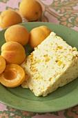 Piece of white Stilton with apricots (England)
