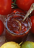 Tomato jam with lemon zest