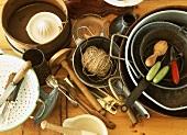 Assorted kitchen utensils