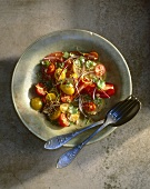 Tomato salad with coriander