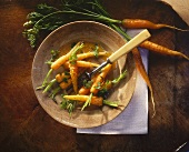 Carrots with ginger and orange butter