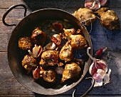 Fried Jerusalem artichokes with garlic