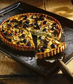 Courgette and olive tart with ricotta