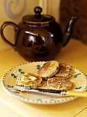 Welsh cakes, one buttered