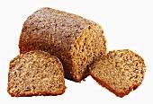 Hemp bread, partly sliced
