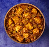 Paneer and pea curry