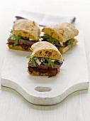 Beef, rocket and horseradish sandwich