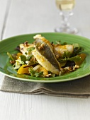 Fillet of John Dory on watercress and orange salad