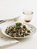 Mushroom ragout with rice