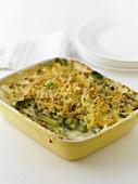 Broccoli and mushroom bake