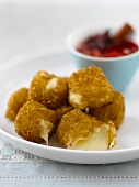 Deep-fried Brie with cranberries