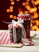 Two jars of mincemeat for Christmas