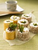 Omelette maki and inside-out rolls