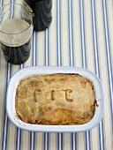 Pie with dark beer