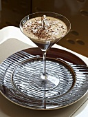 Irish coffee with silver leaf