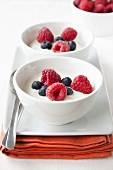 Natural yoghurt with fresh berries
