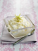 Apple mousse with lime zest