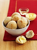 Bread rolls with butter