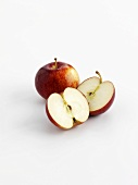 Red Apples, whole and cut in half