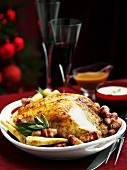Traditional Christmas roast turkey