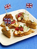 Plate of hors d`oevre, appetizers (England)