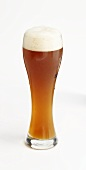 Glass of wheat beer (weissbier)