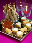 Platter of appetizers for Christmas, hors d´oevres