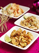 Garlic prawns with limes (Christmas)