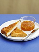 Toast with marmelade