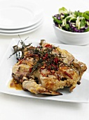 Roast chicken with thyme and chilli