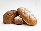 Three different loaves of bread
