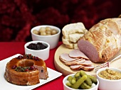 Cold buffet with pate and ham